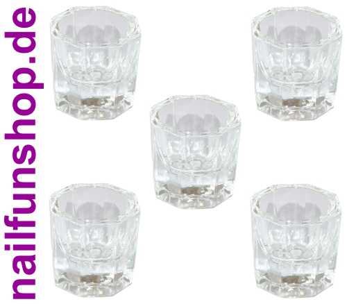 NAILFUN 5x Dappenglas Dappen Dish für Acryl Liquid und Acrylpulver