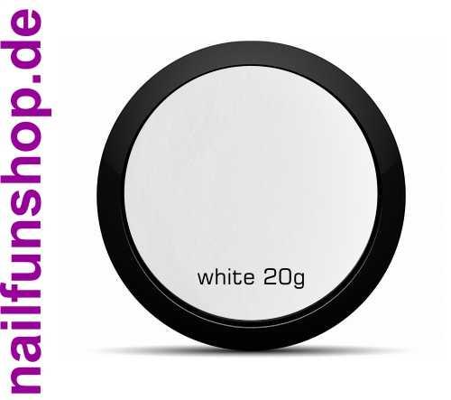 20g Acryl Luxus Puder weiss, mischbar, fein mit UV-Stabilisator
