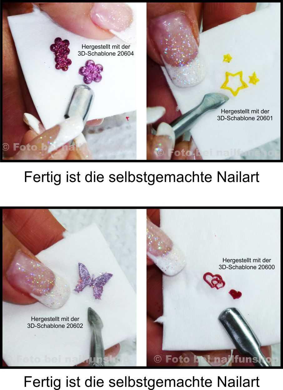 So erstelle ich selbst Nailart mit der 3D Nailart Schablone 1