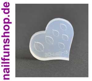 3D Schablone Blätter Blatt für UV-Gel und Acryl - eigene Nailart erstellen
