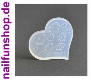 3D Schablone Herzen Herz für UV-Gel und Acryl - eigene Nailart erstellen