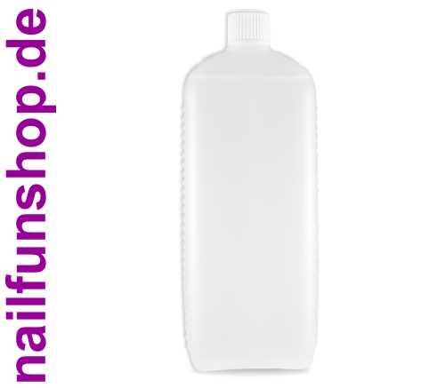 1000ml PE Rechteck Leerflasche natur mit UN-Zulassung und Verschluss