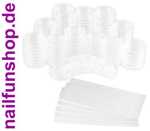 100 Münzkapseln transparent Ø 30/33 mm inkl. Einleger in Aufbewahrungsbox