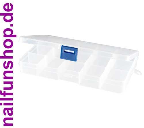 Sortierbox transparent (leer) 15 Fächer mit Klappdeckel und Schnellverschluss