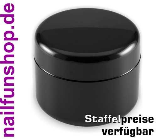Leerer Kosmetik Tiegel 50ml schwarz - Doppelwandig - Geltiegel Cremedose