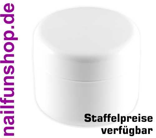 Leerer Kosmetik Tiegel 50ml weiss - Doppelwandig - Geltiegel Cremedose