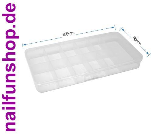Sortierbox aus bruchsicherem PP mit 11 Fächern (leer) und Klick-Verschluss
