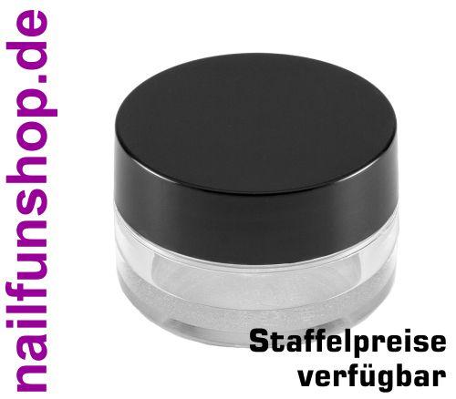 Aufbewahrungsdose klar [10 ml] mit Schraubdeckel schwarz - Leerdose - Döschen