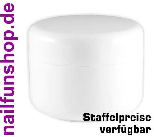 Leerer Kosmetik Tiegel 250ml weiss - Doppelwandig - Geltiegel Cremedose