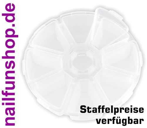 Rondell - Klapprondell - leer - 8 Fächer - 10cm Durchmesser