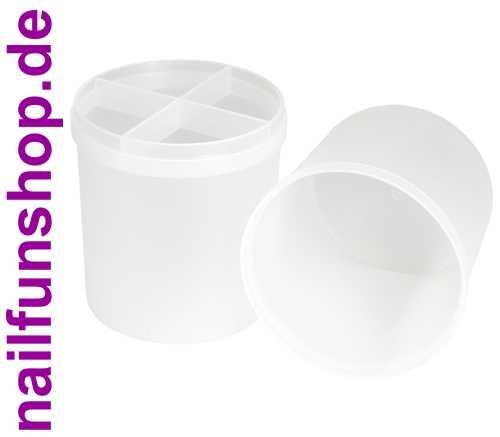 Feilenbox (leer) - Profi Aufbewahrungs-Behälter 2-teilig für Feilen und Pinsel