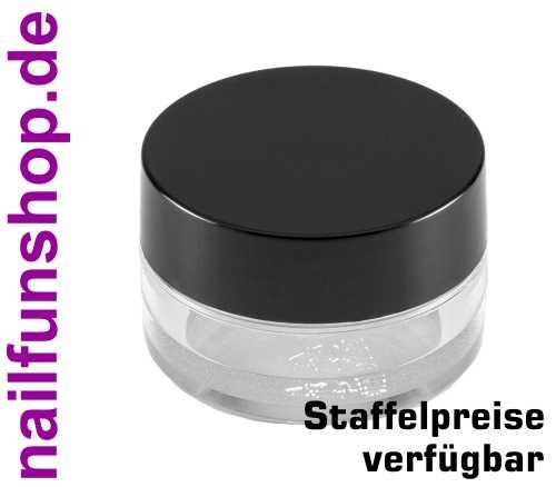 5ml Cremedose klar mit Schraubdeckel schwarz - Leerdose - Döschen