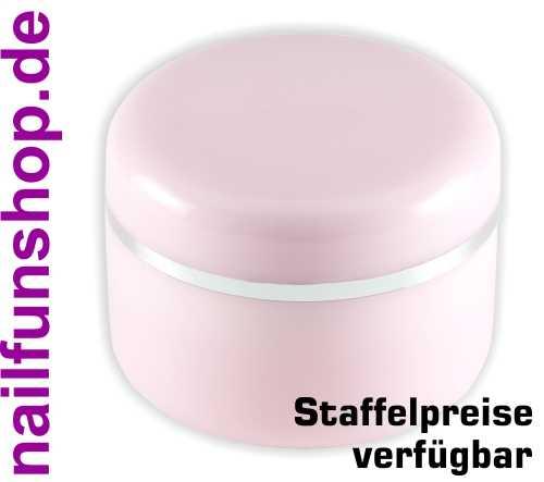 15ml Geltiegel rosa rose Leerdose - Cremedose mit Silberrand und Abdichtscheibe