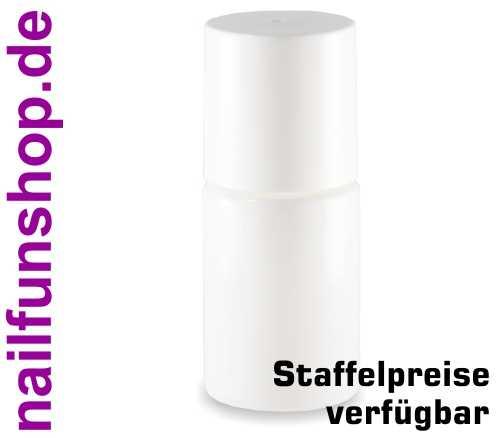 Nagellackflasche leer 15ml weiss (NF-14) mit Deckel weiss und Pinsel