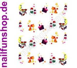 1 Bogen One Stroke Sticker BLE112 Nailsticker Weihnachten Christmas Nail-Tattoo