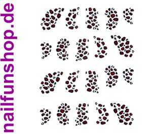 1 Bogen One Stroke Sticker BLE1245 (20 Stück) Nailsticker Nailart Nail-Tattoo