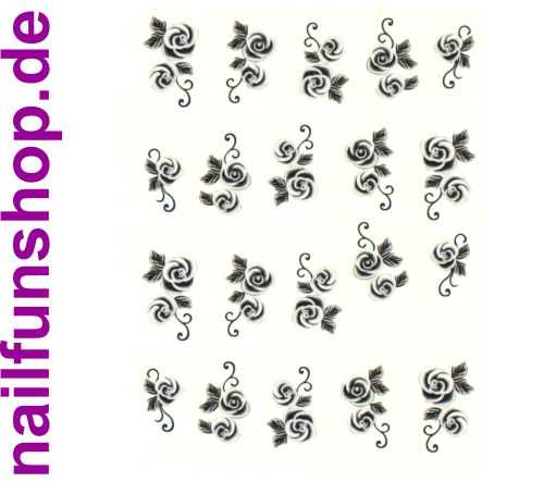 1 Bogen One Stroke Sticker BLE-511 (20 Stück) Nailsticker Nail-Tattoo Nailtattoo