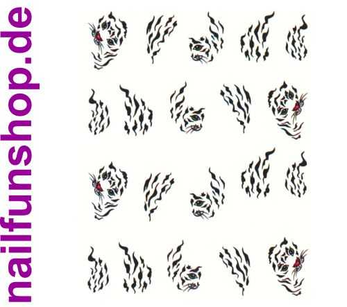 1 Bogen One Stroke Sticker BLE-576 (20 Stück) Nailsticker Nail-Tattoo