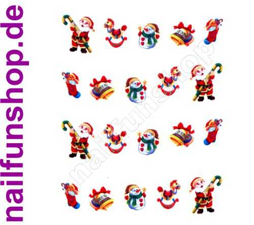 NAILFUN 1 Bogen One Stroke Sticker BLE914 Nailsticker Weihnachten Christmas Nail-Tattoo