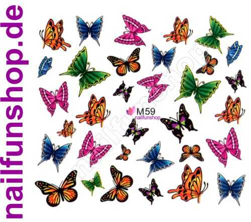 1 Bogen One Stroke Sticker BLE M59 Nailsticker Nailart Folie Nail-Tattoo