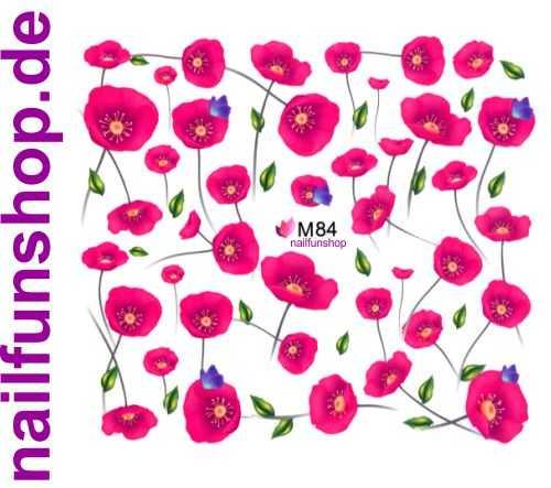 1 Bogen One Stroke Sticker BLE M84 Nailsticker Nailart Folie Nail-Tattoo