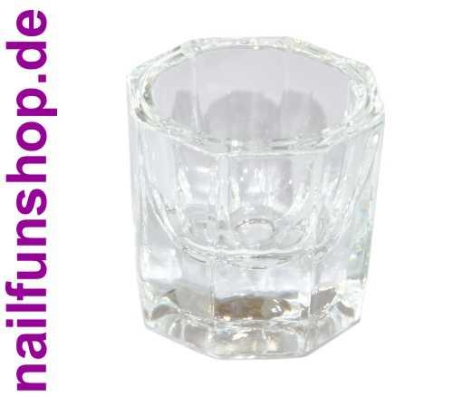 NAILFUN Dappenglas - Dappen Dish Glas für Acrylpulver, Liquid, Pinselreiniger ..