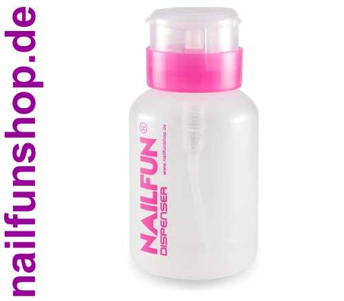 Dispenser / Pumpflasche pink transparent mit Pumpteller ca.200ml (leer)