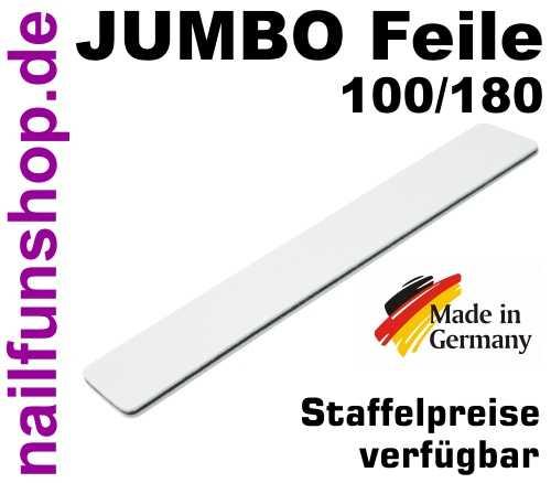 Jumbofeile Profifeile gerade weiss extrabreit - Körnung 100/180 - Kern schwarz