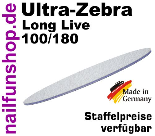 Zebrafeile VUELO Long-Live Profi-Qualität - Körnung 100/180 - made in Germany
