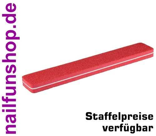 Rechteck Bufferfeile SUPERFLEX rot, rauh, Körnung 80/80