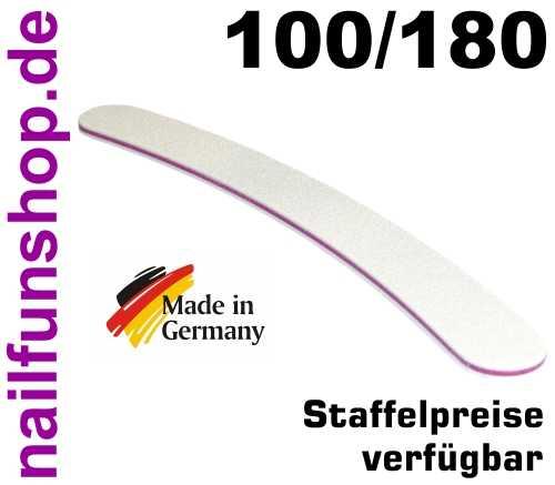 Profifeile weiss gebogen Bananenfeile Körnung 100/180 - Kernfarbe Pink/Rot