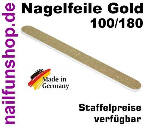 Profifeile GOLD in glamouröser goldener Ausführung Körnung 100/180 Longlife