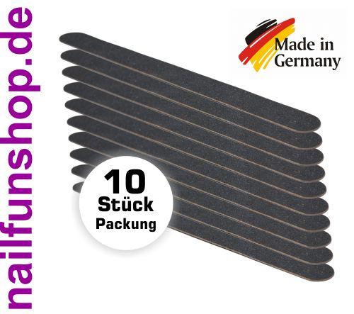"10 Stück Nagelfeile ""THIN""  Körnung 100/180, gerade, schwarz, Holzkern"