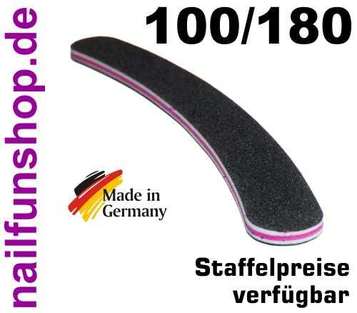 Profifeile schwarz gebogen Bananenfeile Körnung 100/180 - Kernfarbe pink/rot