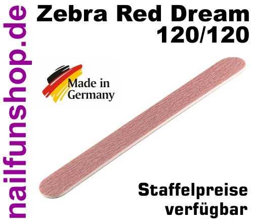 HQ High-Tech Zebrafeile Red Dream 120/120 gerade mittelgrobe Körnung
