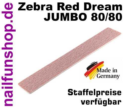 JUMBO HQ Highspeed Zebrafeile Red Dream 80/80 extrabreit grob Körnung