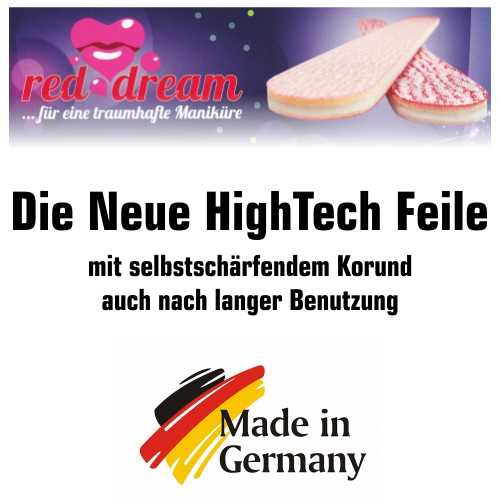 NAILFUN HIGH TECH Feile Red Dream Spitzenleistung Dank High Tech mit langer Lebensdauer