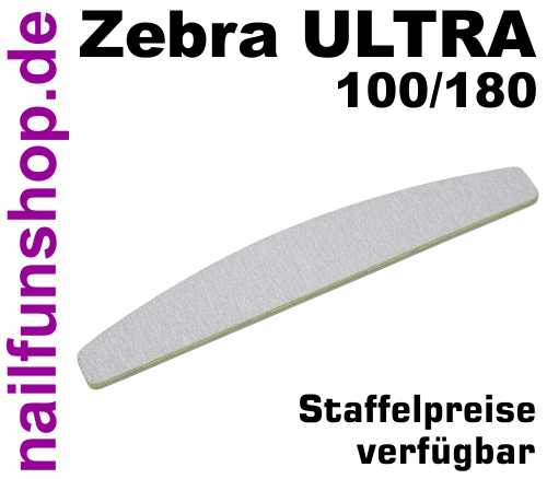 Zebrafeile Halbmond Longlife Profi-Qualität - Körnung 100/180 - made in Germany
