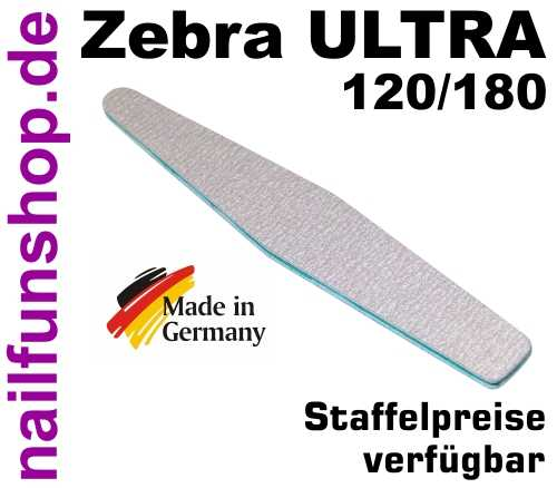 Zebrafeile Trapez Longlife Profi-Qualität - Körnung 120/180 - made in Germany