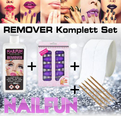 REMOVER Komplett-Set zum entfernen von Shellack, Soak-Off, Gel-Polish