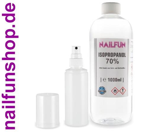 Isopropanol 70% [1000 ml] + Pump - Sprühflasche leer