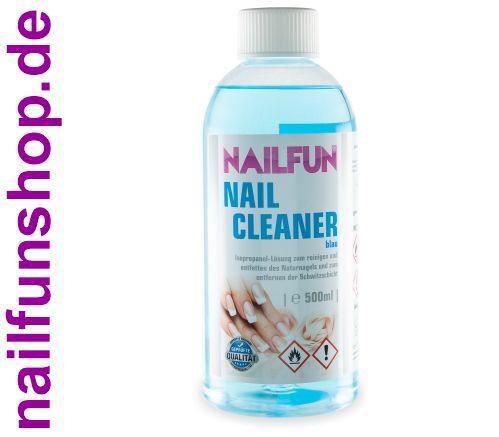 500ml Nailcleaner blau - Spezial Nagel-Reiniger Cleaner - reinigt und entfettet