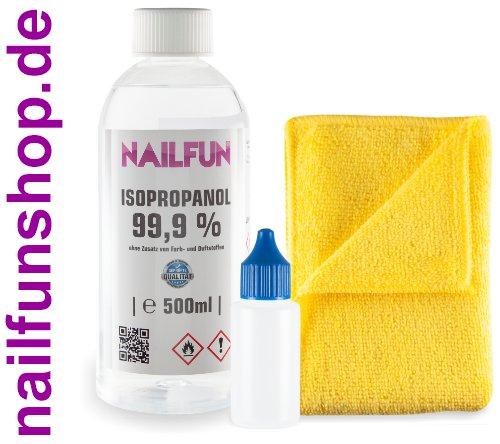 Isopropanol 99,9% kosmetisch [1x 500ml] + Mikrofasertuch + Spritzflasche