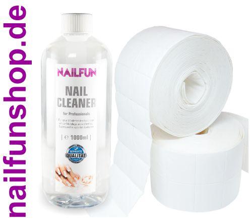 1 Liter Nail Cleaner = 1000ml + 1000 Zelletten (2 Rollen a' 500 Stück)