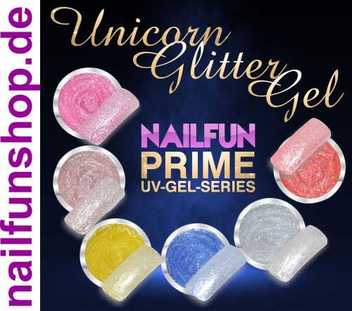 Unicorn Glitter Gel Set - NAILFUN Prime Series - 6 x 5ml