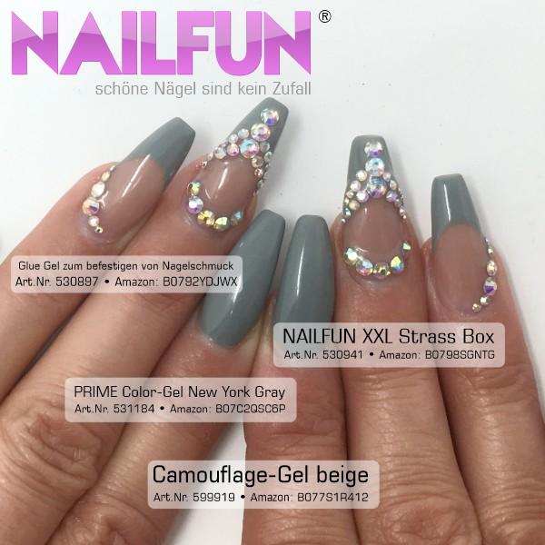 NAILFUN Glue-Gel für Nagelschmuck Anwendung