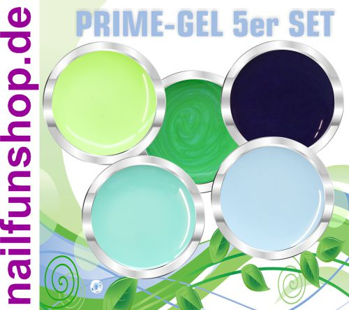 PRIME Gel - NATURE - 5er Set, UV-und LED, 5x 5ml