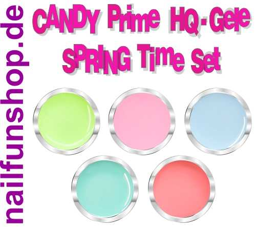 PRIME UV-Gel CANDY SPRING TIME 5er Set, 5x 5ml