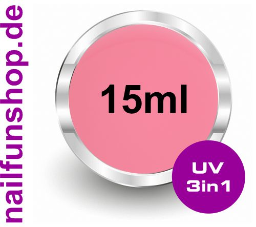 All in One ROSÉ [15ml] UV Universalgel mittelviskose