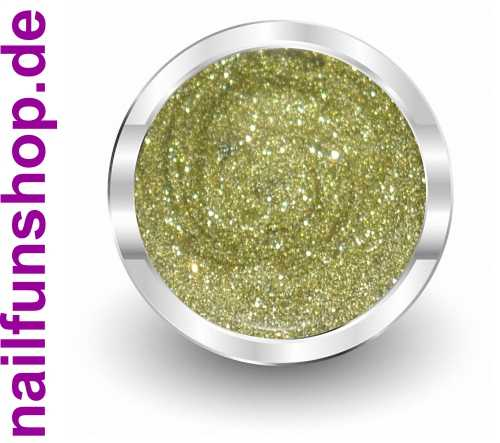 NAILFUN UV-Color-Farbgel Sparkle Green Gold - 5ml